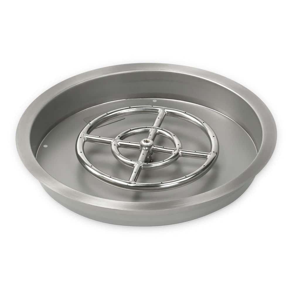 19 Inch American Fireglass Round Drop In Pan