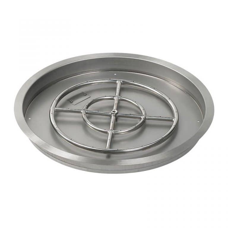 25 Inch American Fireglass Round Drop In Pan