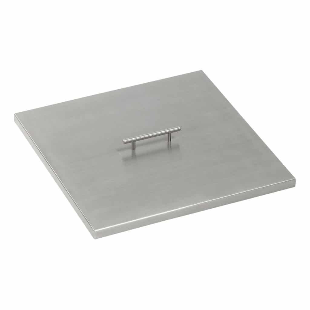 Square Stainless Steel Fire Pit Cover with handle