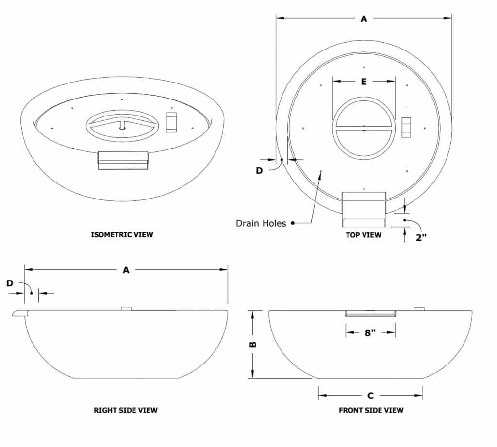 Sedona 27 Inch Diameter Fire and Water Bowl