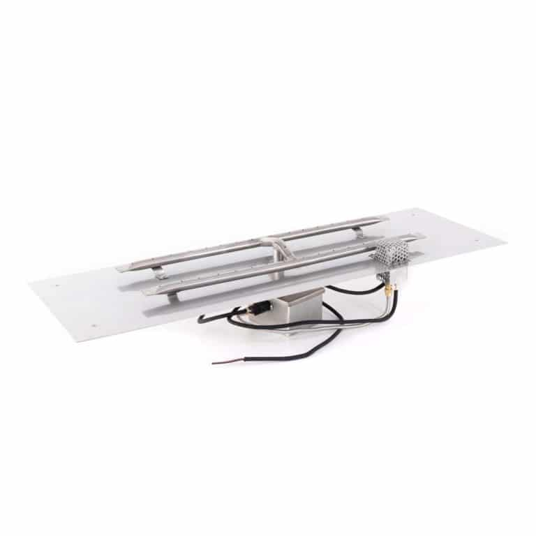 Rectangular Flat Pan and H SS Burner 12V Electronic Ignition
