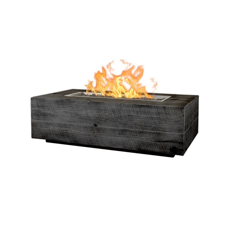 Coronado Wood Grain Fire Pit 48 Ebony