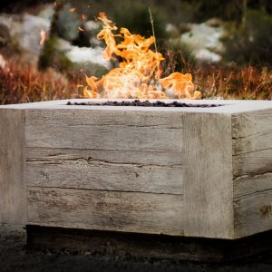 Coronado Wood Grain Fire Pit 48 Inch / The Outdoor Plus