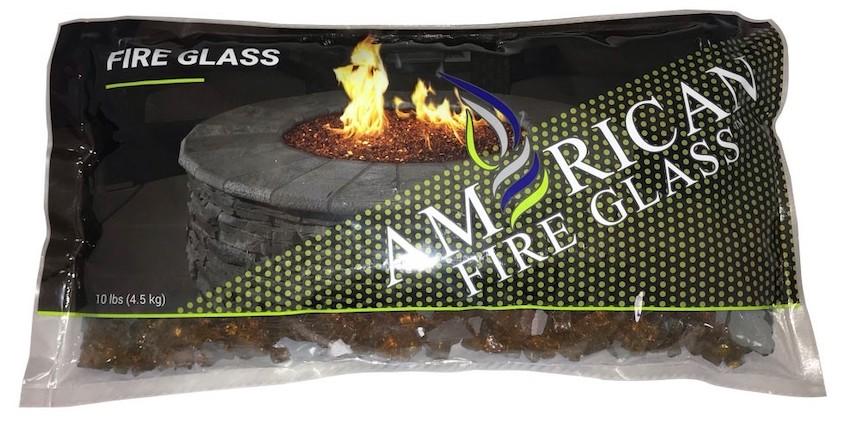 10 Lb Bag Copper Fire Glass