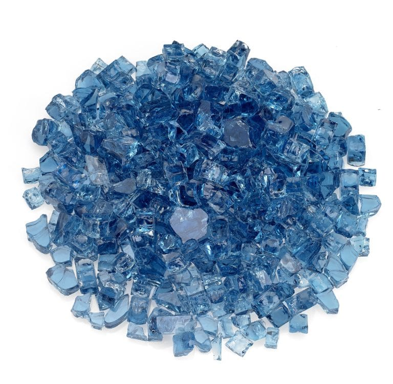 Pacific Blue 1/2 Inch Fire Glass