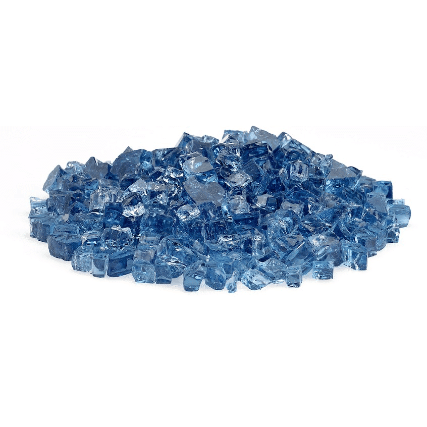 Pacific Blue Fire Glass 1:2 Inch