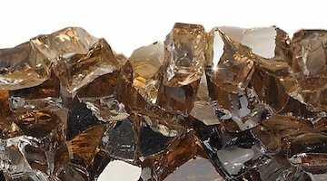 Copper Reflective Fire Glass