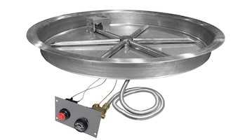 Firegear Round Pan with Flame Sensing Ignition