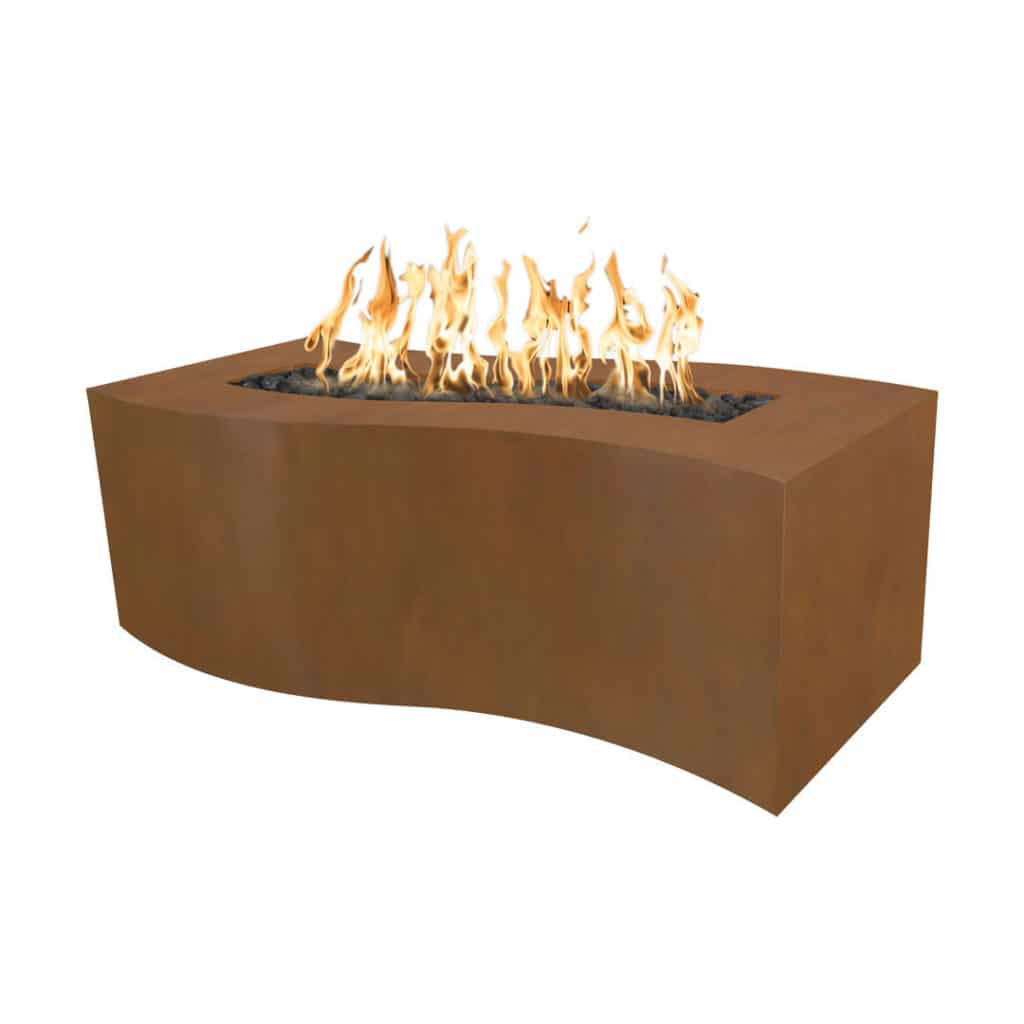 The Billow Fire Pit - Corten Steel