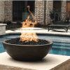 Fire Bowls around the pool