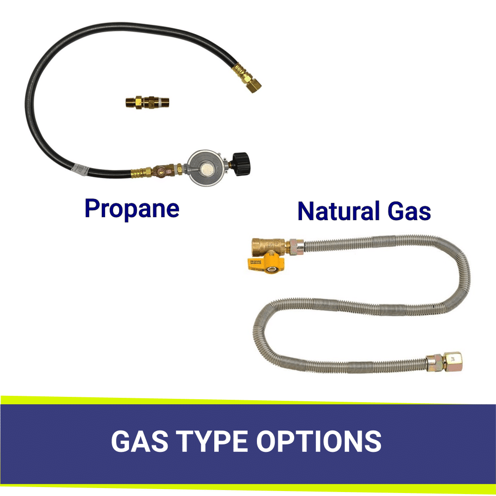 GAS CONNECTION OPTIONS FOR AMERICAN FIRE GLASS MATCH LIGHT FIRE PIT KITS