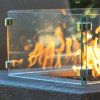 Rectangular Fire Pit Wind Guard from The Outdoor Plus