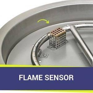 Round Drop-In Pan with Flame Sensing Kit