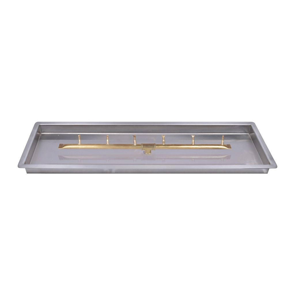 Rectangular Pan with Linear Match Lit Bullet Burner