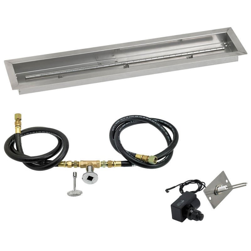 American Fireglass 30 x 6 Nat. Gas Linear Drop In Tray with Spark Ignition Kit