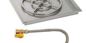 Square Fire Pit Pan with Match Light Kit - SS-SQPMKIT / American Fireglass