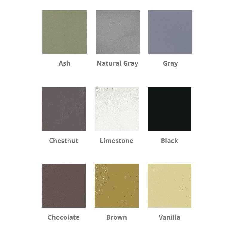 Sonoma Fire Bowl Standard Colors