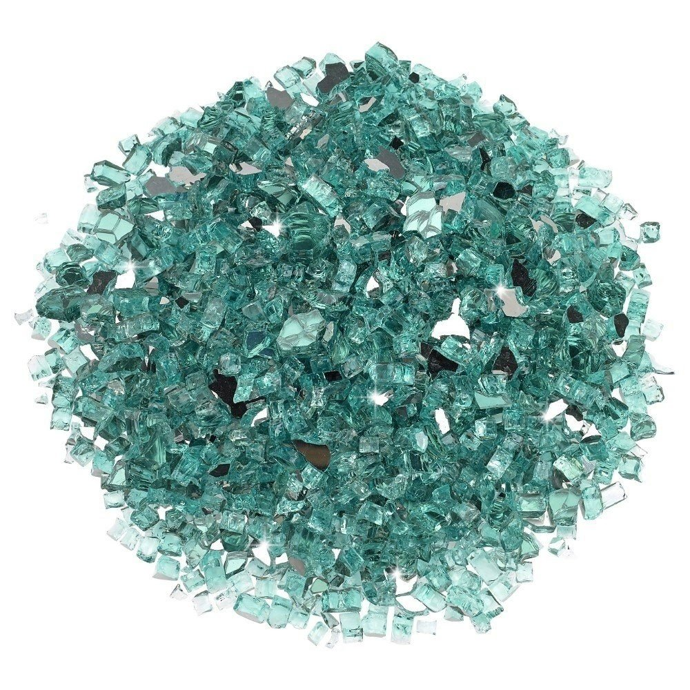 1/4 Inch Azuria Reflective Fire Glass