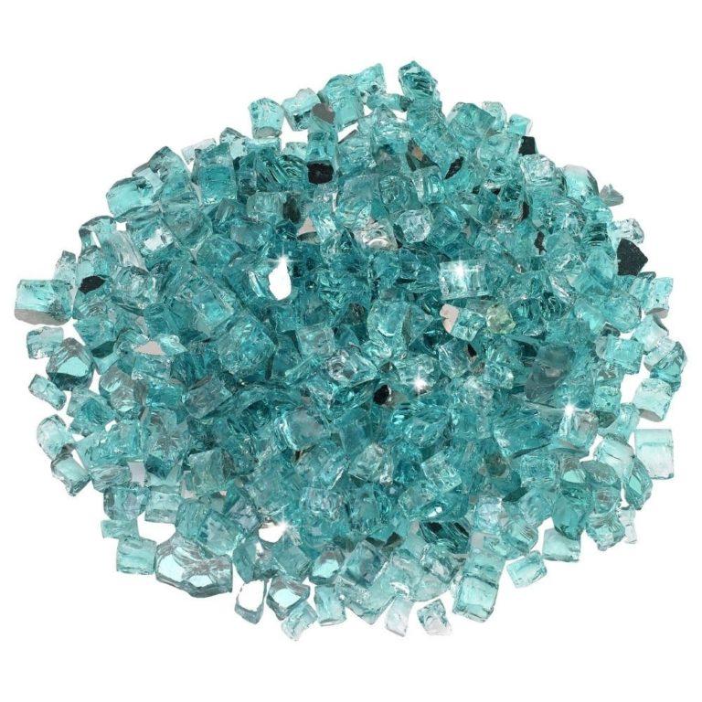 1/2 Inch Azuria Reflective Fire Glass