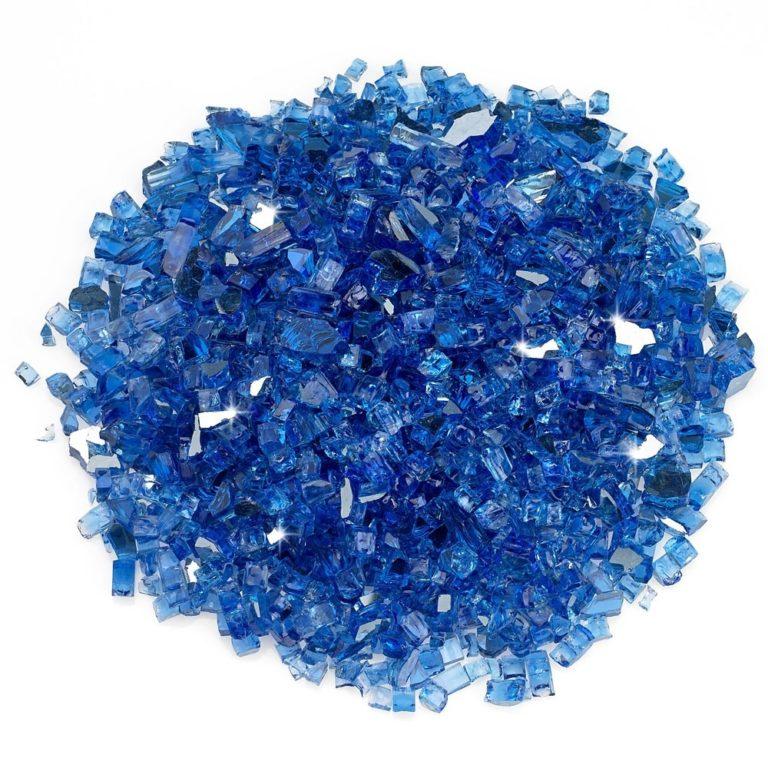 1/4 Inch Cobalt Reflective Fire Glass
