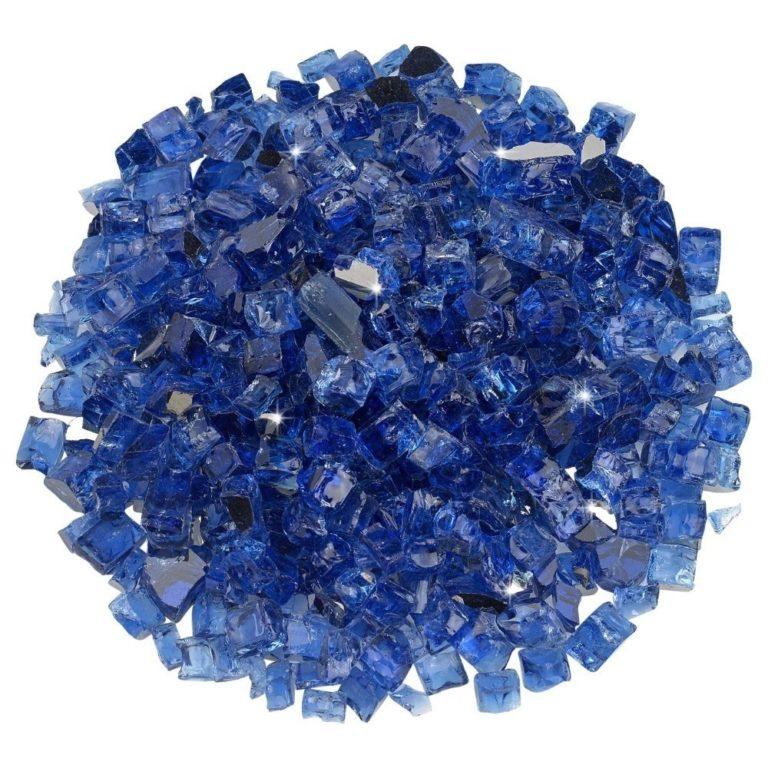 1/2 Inch Cobalt Reflective Fire Glass