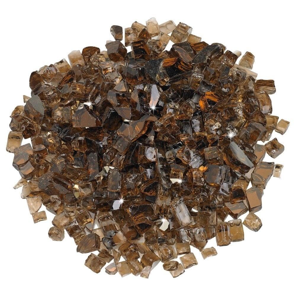 1/2 Inch Copper Reflective Fire Glass 10 lb / American Fireglass