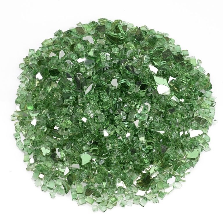 1/4 Inch Evergreen Reflective Fire Glass