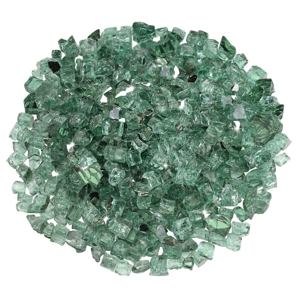 1/2 Inch Evergreen Reflective Fire Glass