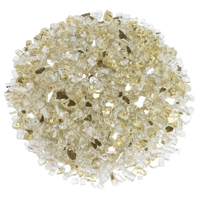 1/4 Inch Gold Reflective Fire Glass