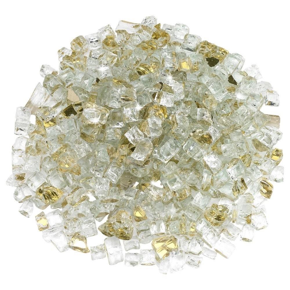 1/2 Inch Gold Reflective Fire Glass – Fire Glass / American Fireglass