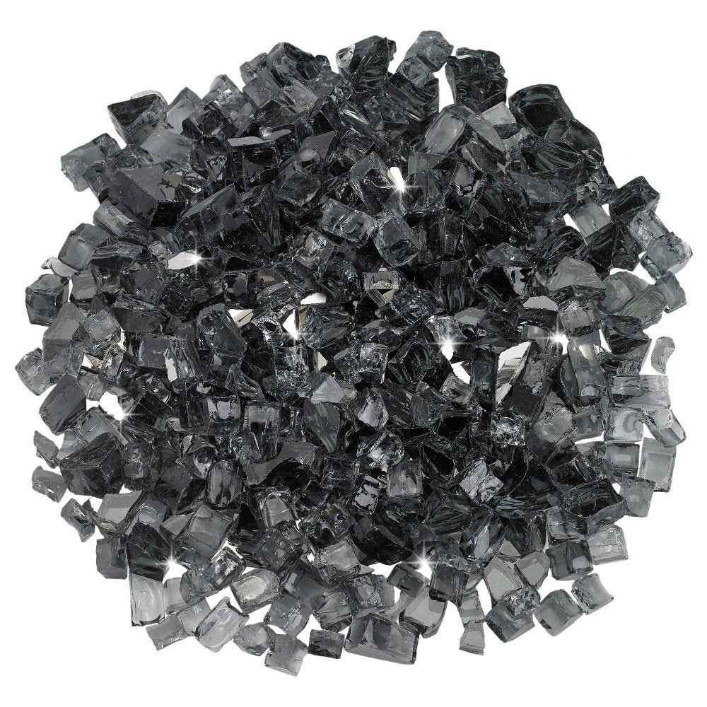 1/2 Inch Grey Reflective Fire Glass – Fire Glass / American Fireglass