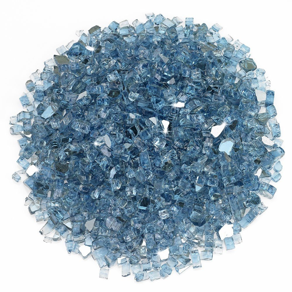 1/4 Inch Pacific Blue Reflective Fire Glass