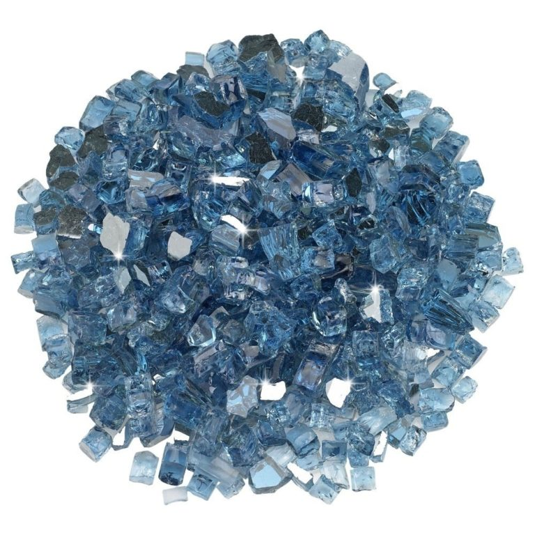 1/2 Inch Pacific Blue Reflective Fire Glass