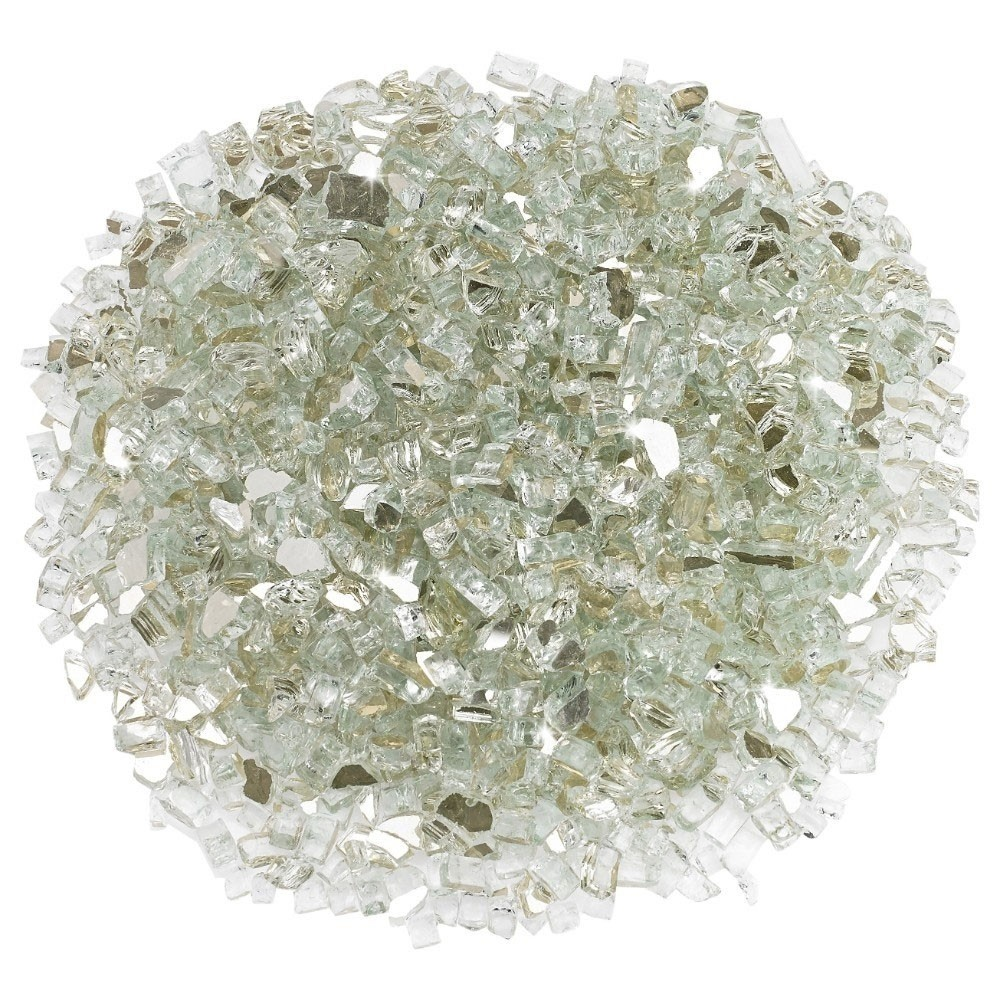 1/4 Inch Platinum Reflective Fire Glass