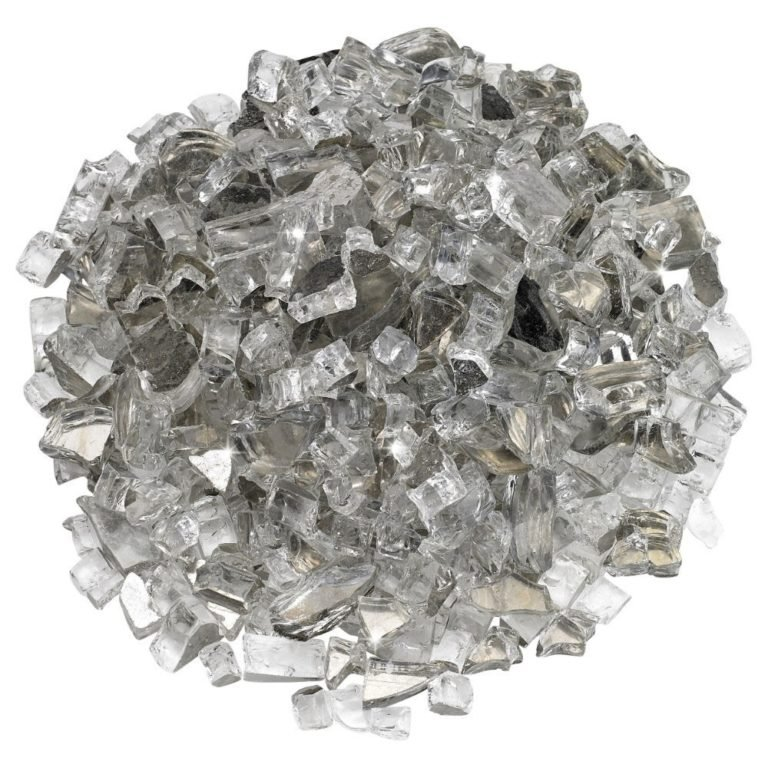 1/2 Inch Starfire Reflective Fire Glass