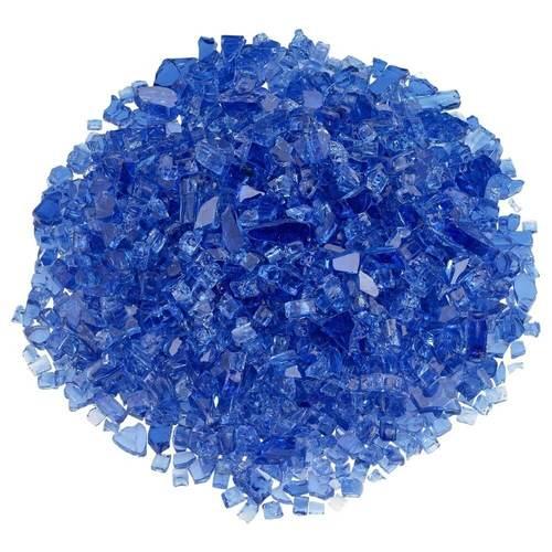 Classic Fire Glass 1/4 Inch Cobalt Blue