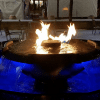 Evolution 4 Scupper Hammered Copper Fire and Water Bowl