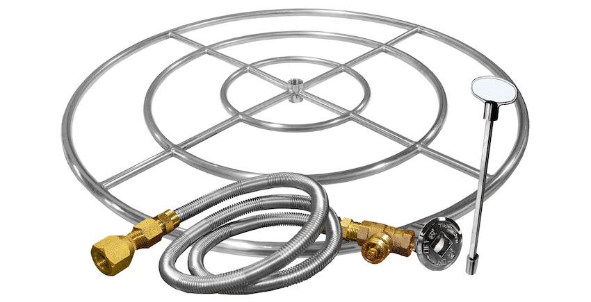 Firegear Round Gas Fire Pit Burner Ring Kit