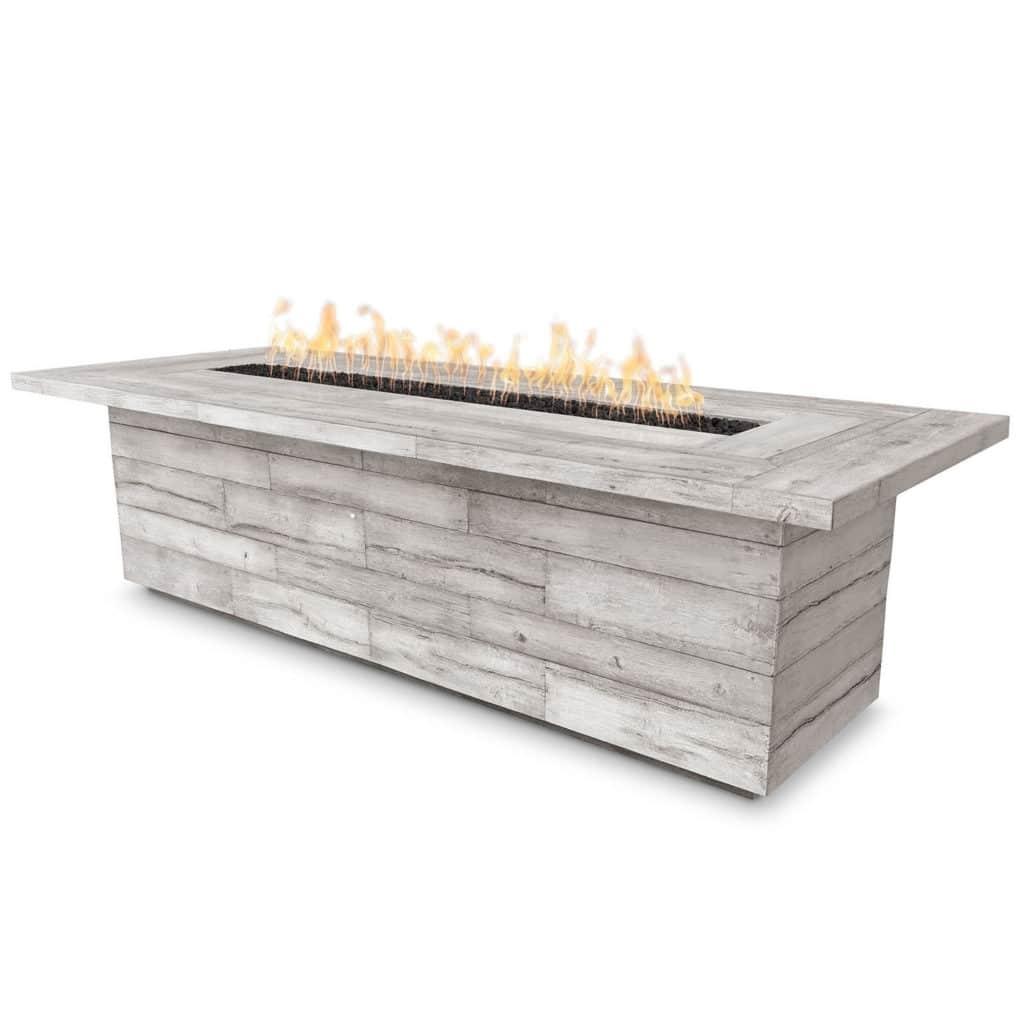 Laguna GFRC Fire Table - Wood Grain - Ivory