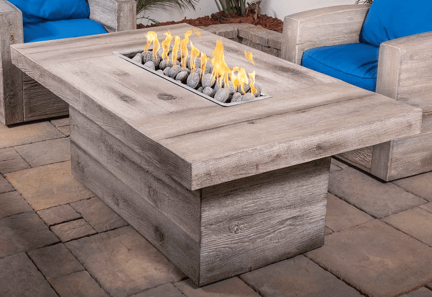 The Outdoor Plus Grove Wood Grain Fire Pit OPT-GRVWG60