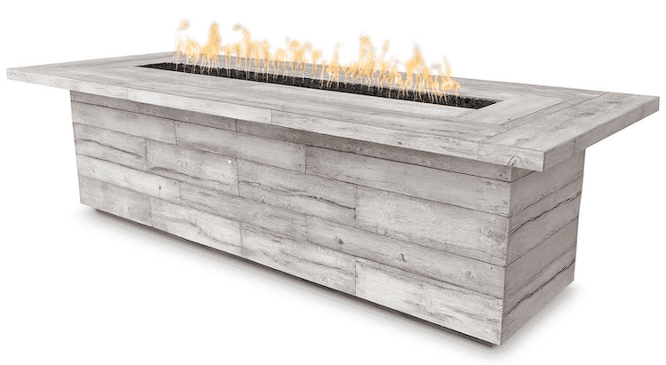 The Outdoor Plus Laguna Wood Grain Fire Pit OPT-LGNGF144
