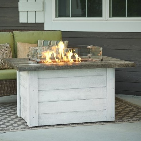Alcot Fire Pit with Optional Wind Guard