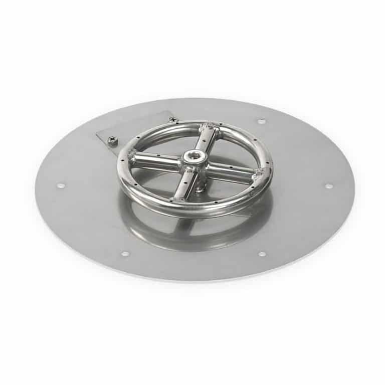 12 Inch Round Flat Pan with 6 Inch Burner