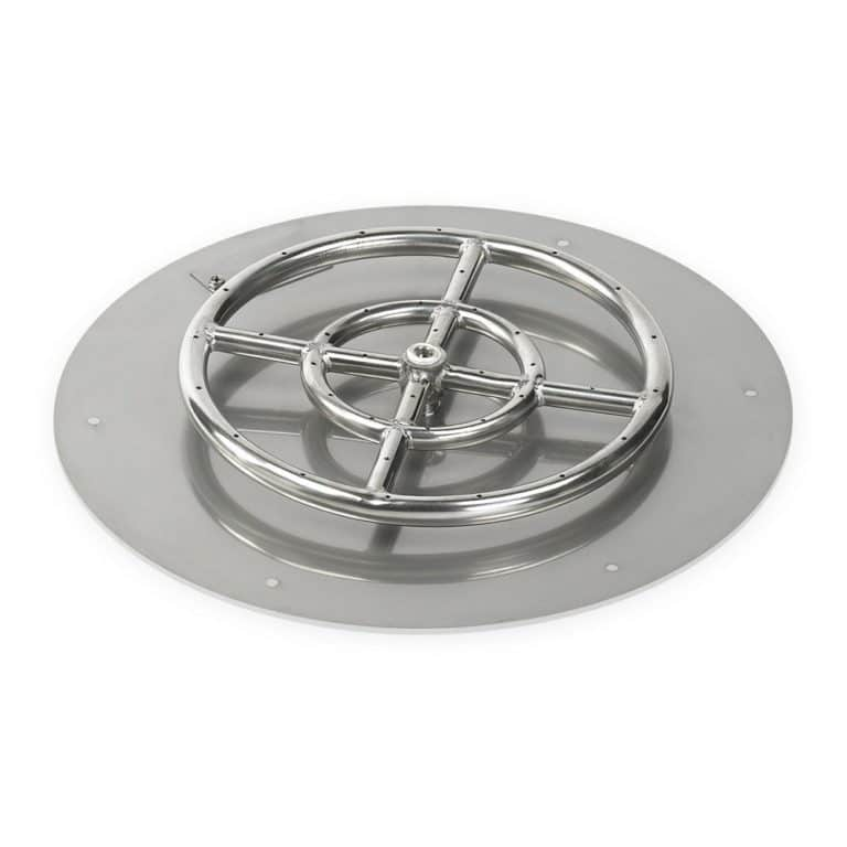 18 Inch Round Flat Pan with 12 Inch Burner