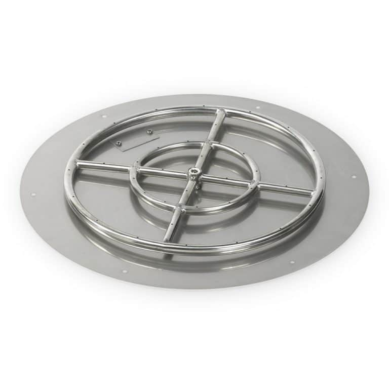 24 Inch Round Flat Pan with 18 Inch Burner