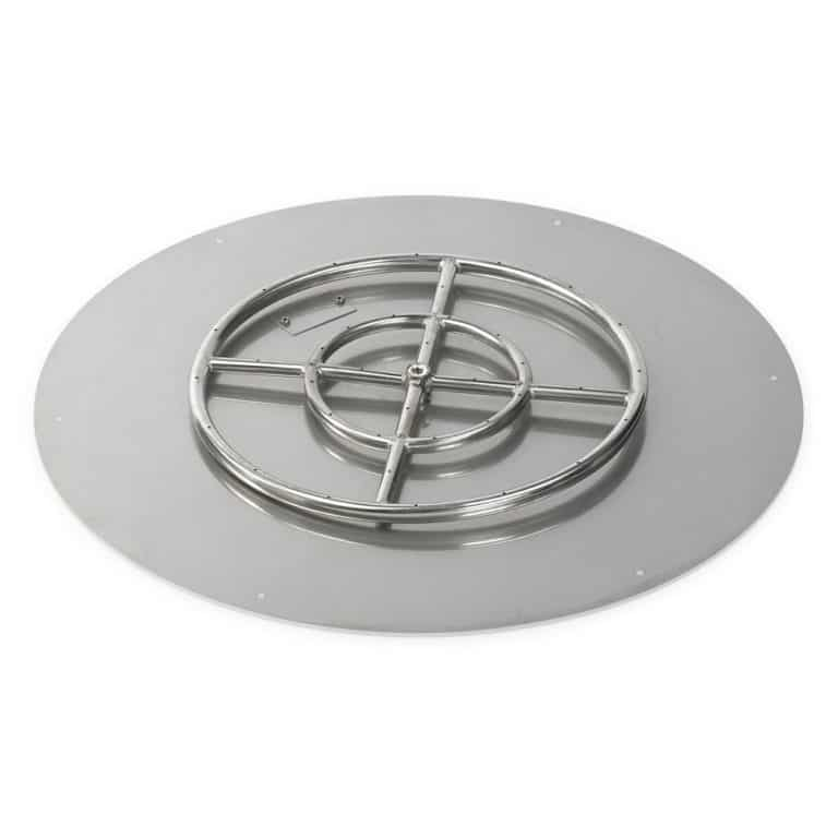 30 Inch Round Flat Pan with 18 Inch Burner