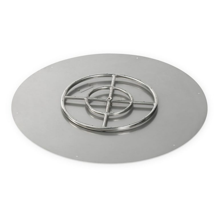 36 Inch Round Flat Pan with 18 Inch Burner