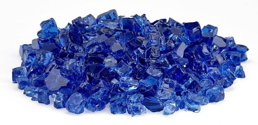 Classic Fire Glass - Cobalt Blue