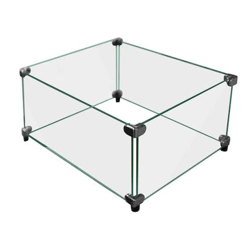 Firegear Fire Pit Windshield-Square