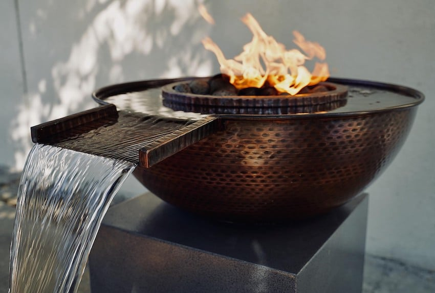 Sedona Copper Fire and Water Gravity Spill Bowl